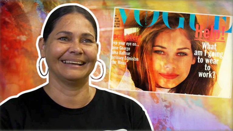 First Aboriginal Vogue cover model back after 20 years