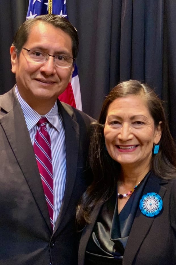 Navajo Nation President Jonathan Nez and Rep. Deb Haaland