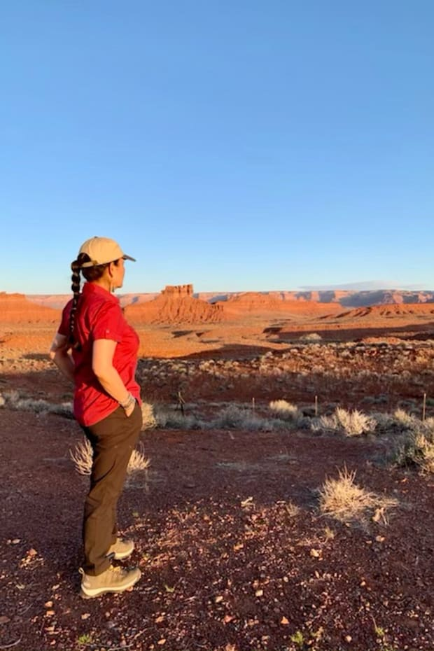 """The earth holds so much power. We must all work together to honor it. Photo at Valley of the Gods, Bears Ears #Utah"" (Photo courtesy of Interior Secretary Deb Haaland via Twitter)"