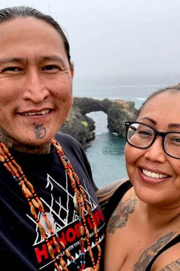 Registered Nurse Shawna Snyder and her husband Ernesto Burbank, who sang Native American songs before she died of COVID-19 in July, 2020. (Photo courtesy of Ernesto Burbank)