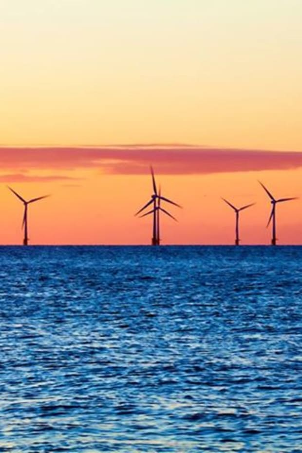Offshore wind energy development near New Jersey, 2015. (Photo courtesy of Interior Department's Twitter page)