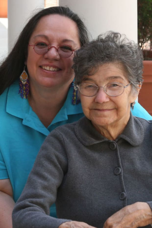 Mary and Bernice Pember. (Mary Annette Pember) 2011. for Mother's Day