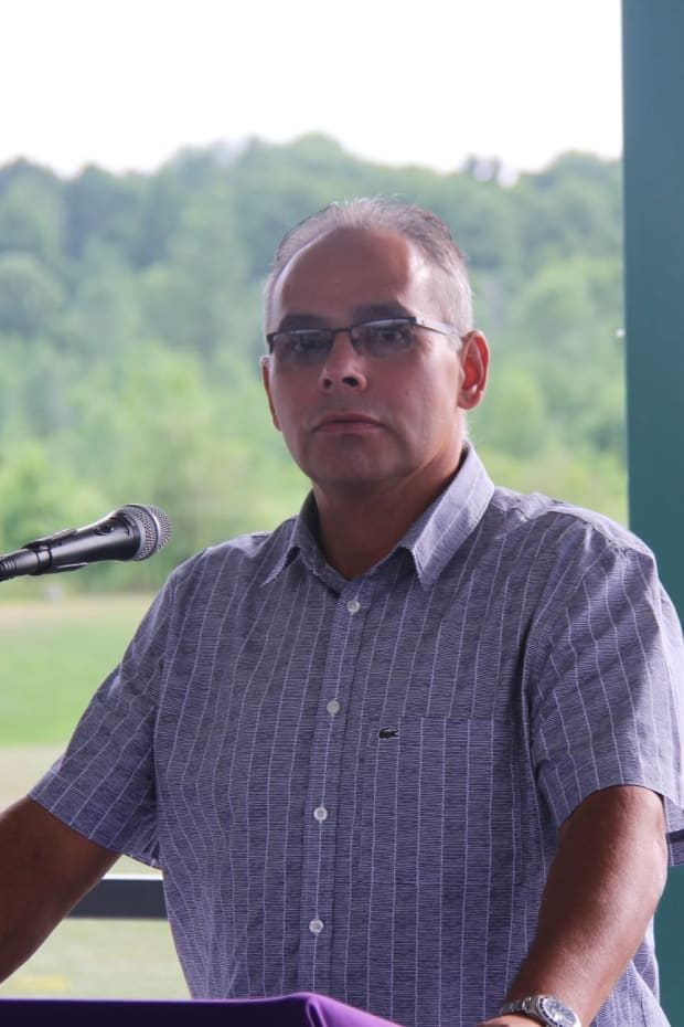 Akwesasne Mohawk Chief Darryl Lazore. (Photo courtesy of Mohawk Council of Akwesasne Facebook page)
