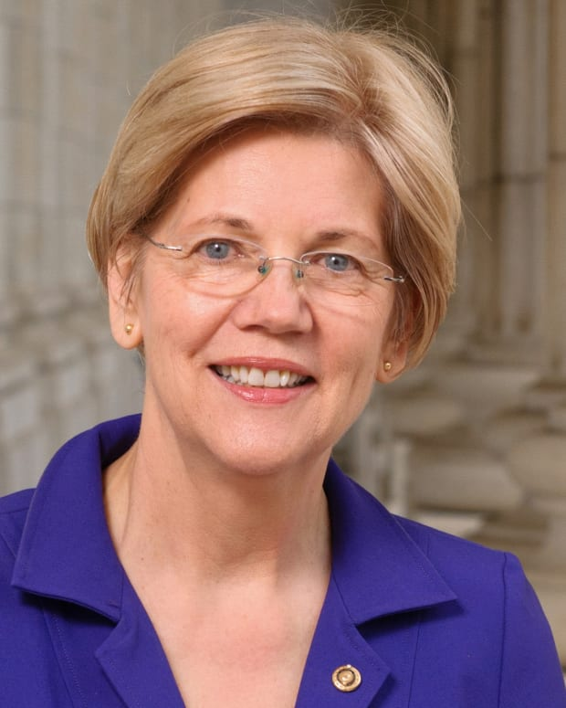 Pictured: United States Senator Elizabeth Warren (D-Mass.), official portrait 114th Congress.