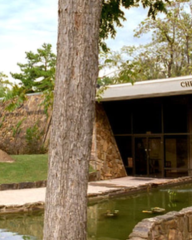 Pictured: The Cherokee Heritage Center.