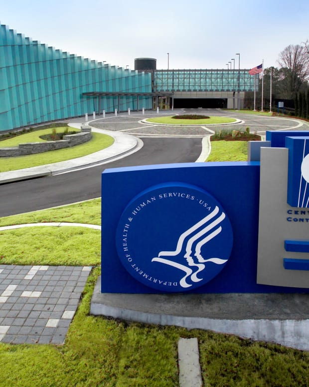 "This image depicts the exterior of CDC′s ""Tom Harkin Global Communications Center"" located on the organization′s Roybal Campus in Atlanta, Georgia. (Photo by James Gathany 