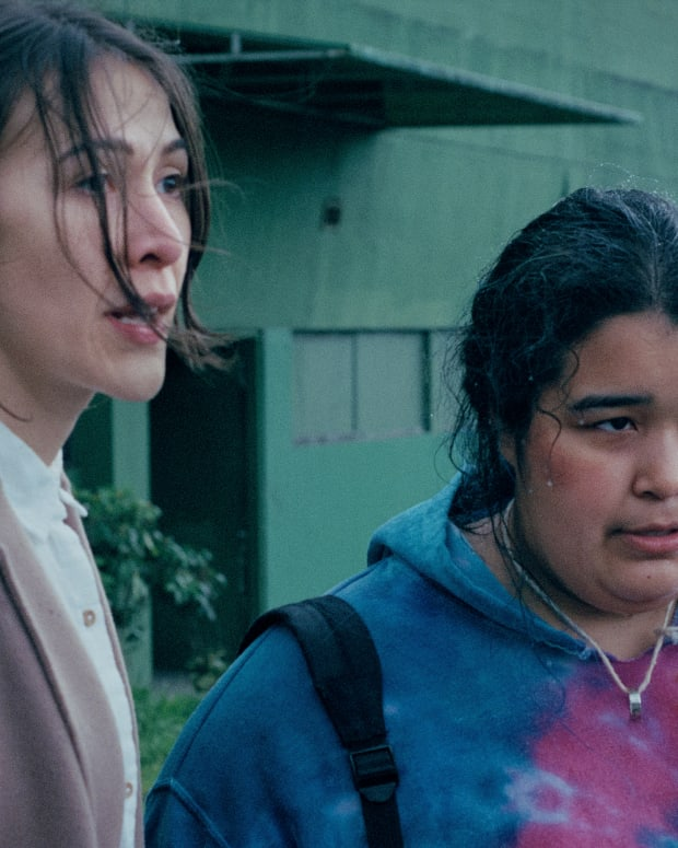 Elle-Máijá-Tailfeathers and Violet-Nelson portray two Indigenous women in the Array film 'The Body Remembers When the World Broke Open.' Array is the production company founded by director Ava DuVernay. (Photo by Katrin Braggadottir)