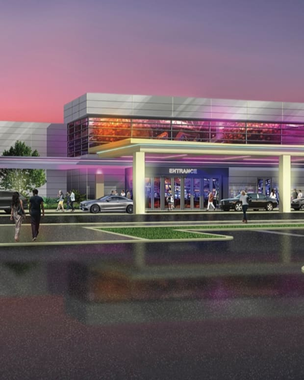 Pictured: An artist rendering depicting the Catawba Nation's Two Kings Casino Resort near Charlotte, North Carolina.