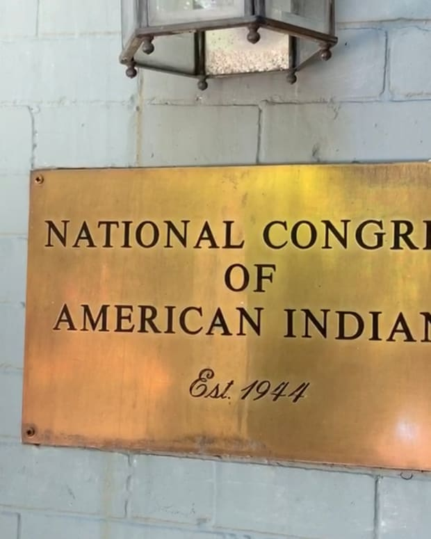 The National Congress of American Indians building in Washington, D.C. in June 2019. (Photo by Jourdan Bennett-Begaye, Indian Country Today, File)