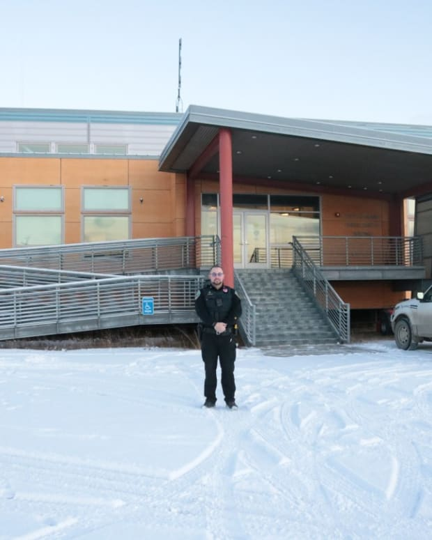 NPD officer in Nome (Photo courtesy of KNOM).