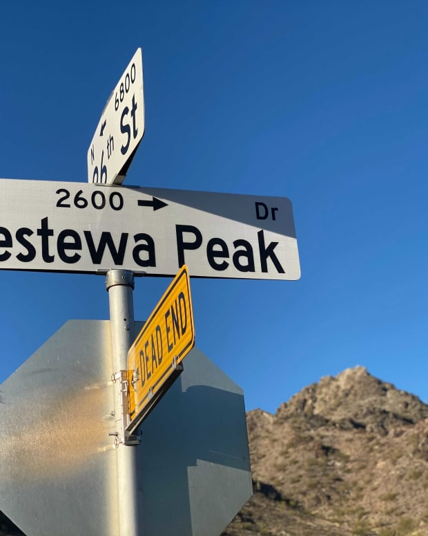 Piestewa Peak Drive in Phoenix, March 1, 2021. (Photo by Mark Trahant, Indian Country Today)