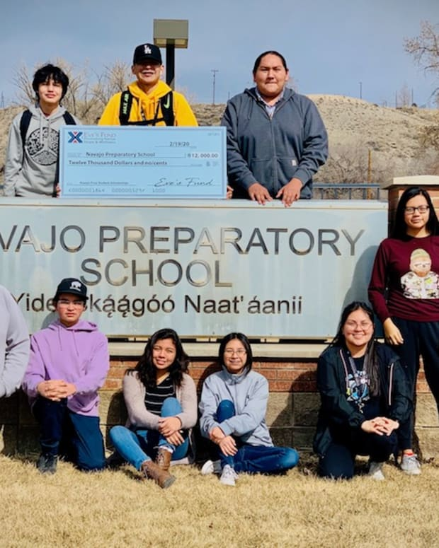 Pictured: Eve's Fund Scholarship 2019-2020 recipients from left to right, Top Row: Isaac Yazzie, Lance Gilbert Morris, Joshua Begay. Bottom Row: Isaiah Morris, Kenny Sloan, Uriel Benally, Kalani Williams, Natalyn Yazzie, Keonna Hosteen, Alana Smith, Sky Harper, Jaden Shirley. (Not shown: Kimberlynnibah Yazzie). Photo courtesy of Navajo Prep.