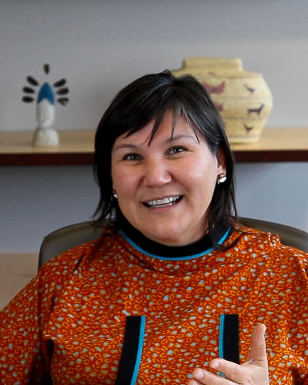 Valerie Nurr'araaluk Davidson is 'ideal choice' to lead Alaska Pacific University. (Photo by Mark Trahant, Indian Country Today)