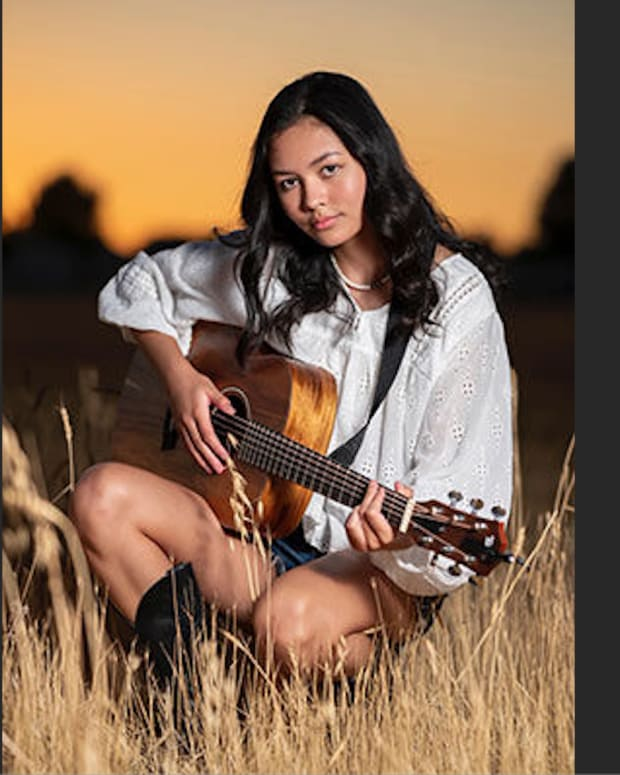 Hailee Toney, Cherokee Nation, provides vocals, Harmonies and guitar for her original songs the first of which will be released in a few weeks. (Courtesy photo via Cherokee Phoenix)