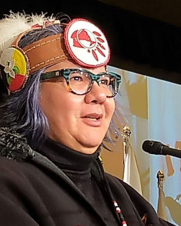 Pictured: Assembly of First Nations National Chief RoseAnne Archibald.