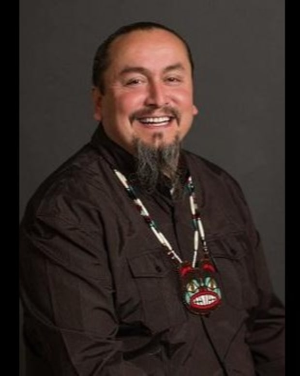 Derrick Belgarde, an enrolled citizen of the Confederated Tribes of Siletz Indians of Oregon, was named the executive director of Chief Seattle Club in May 2021. Belgarde was previously a member of the club, a human service agency in King County that provides basic needs for the American Indian and Alaska Native community, many of whom are experiencing homelessness. (Photo courtesy of The Bellingham Herald)