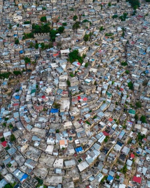 FILE - A view of the densely populated Jalousie neighborhood of Port-au-Prince, Tuesday, Sept. 28, 2021. A group of 17 U.S. missionaries including children was kidnapped by a gang in Haiti on Saturday, Oct. 16, 2021 according to a voice message sent to various religious missions by an organization with direct knowledge of the incident. (AP Photo/Rodrigo Abd, file)