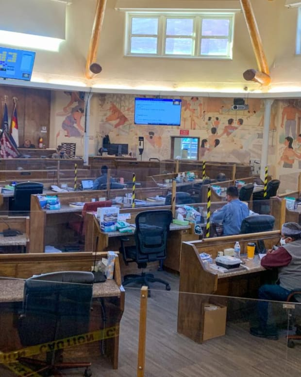 Pictured: Members of the 24th Navajo Nation Council during the 2021 Fall Session.