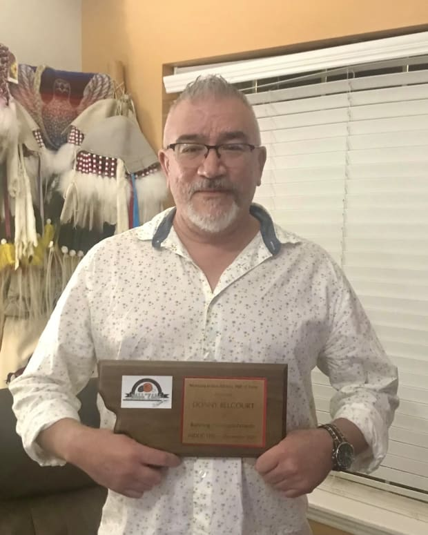 Donny Belcourt, Chippewa/Cree, was one of the inductees at the 2020 Montana Indian Athletic Hall of Fame. (Photo courtesy of Jo Belcourt)]