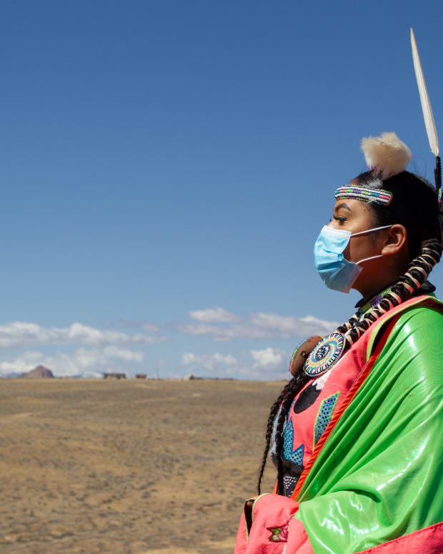 As a woman who's proud of her Diné heritage, Yang shares stories about her cultural traditions to help raise awareness of racism against Native Americans. Story published April 1, 2021 (Photo by Jeff Rosenfield/Cronkite News)