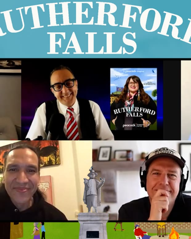 The Rutherford Falls interview with Ed Helms, Sierra Teller Ornelas, Michael Greyeyes and Jana Schmieding, hosted by Vincent Schilling