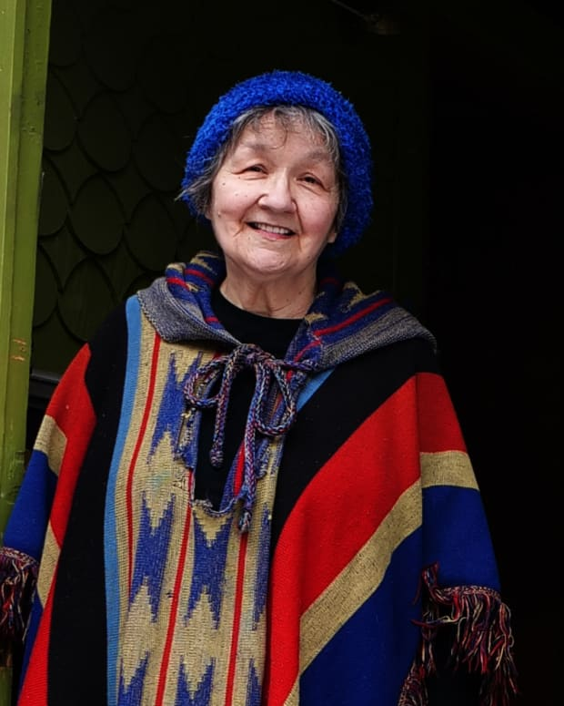 """Ernestine Hayes, Tlingit, former Alaska Writer Laureate and award-winning author of two Alaska Native memoirs: """"Blond Indian,"""" and """"The Tao of Raven."""" (Photo courtesy of Rasmuson Foundation)."""