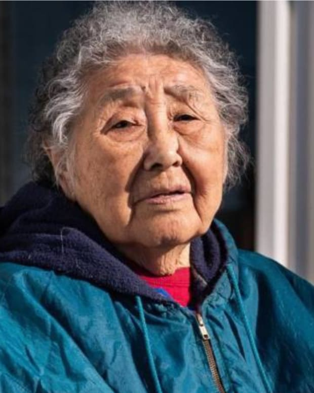 The co-author of a Yup'ik-English dictionary and long-time community health aide and medical translator, Eula Acurunaq David, died May 20, 2021. (Photo by Katie Basile/KYUK, courtesy of KYUK)