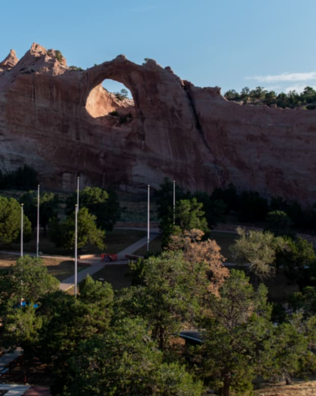 Pictured: The Window Rock and Veterans Memorial Tribal Park are among the parks that would open with Legislation No. 0076-21.