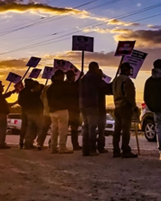 Pictured: Members of Teamsters Local Union 104 in Arizona.