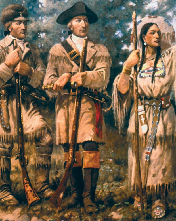 Pictured: Detail of Lewis & Clark with Sacagawea at Three Forks, mural in lobby of Montana House of Representatives.