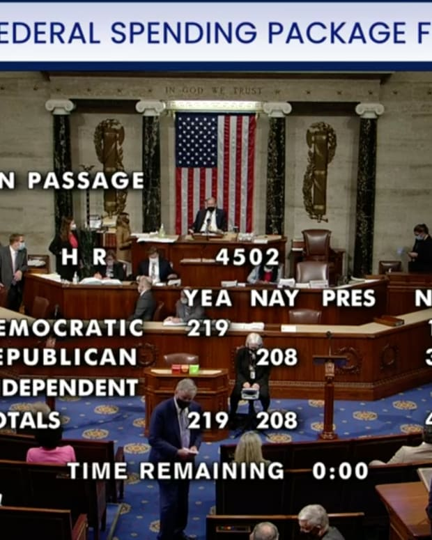 The House passes a seven-bill package along party lines. (Photo courtesy of C-SPAN)