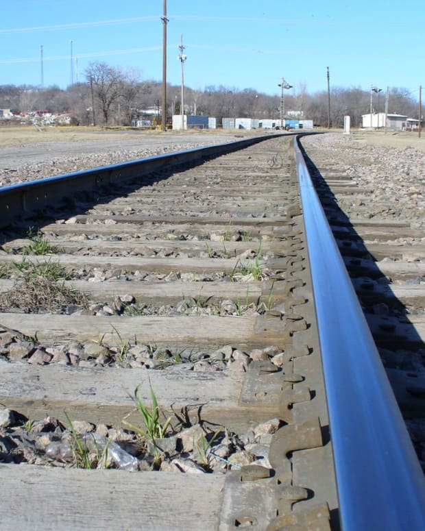 Train tracks. (Photo by Kevin, Creative Commons)