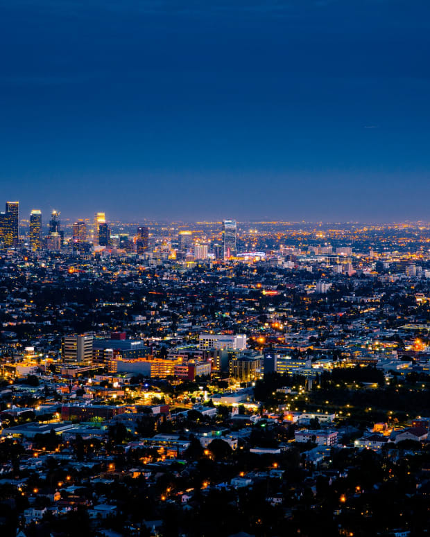 Pictured: Los Angeles by night from Griffith Observatory.