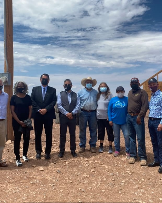 Pictured: City of Los Angeles Councilman Mitch O'Farrell 'Light Up Navajo' visit.