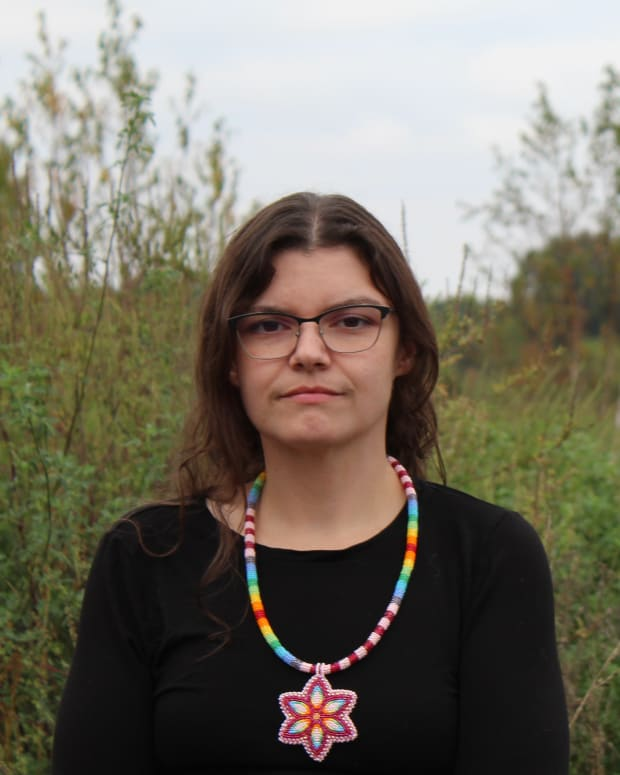 Ellie Mitchell (Eagle Clan) is an enrolled member of the Saginaw Chippewa Indian Tribe of Michigan, and a granddaughter of the late Saginaw Chippewa Tribal Chief, Phil Peters Sr.-ba. Mitchell is the owner of Bead & Powwow Supply and is an academic specialist at Michigan State University.