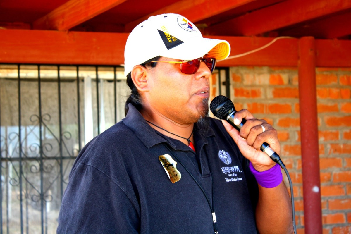 Program Coordinator Fred Lopez, who has been with KOHN since it started broadcasting in 2004, started as a volunteer and over the years gained the experience to become Program Coordinator. He is from the community of Santa Rosa, Tohono O'odham Nation - Courtesy KOHN Radio / Multimedia