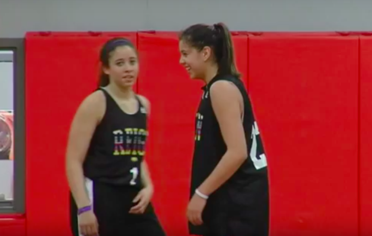 Shoni Schimmel, right, made a career out of her basketball skills, and Off The Rez shows a glimpse of how she made that dream a reality. YouTube screenshot