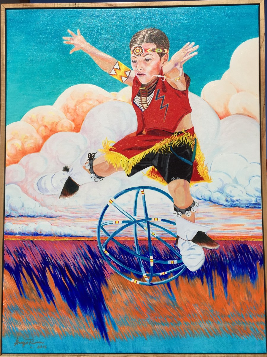 Oil painting, 'Lightning Boy' by former Governor George Rivera. Courtesy Rivera Family
