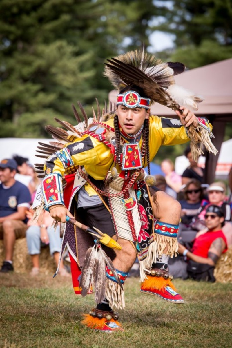 Traditional Men's Dancer at the 2016 FDR Pow Wow. Photo - Alex Hamer