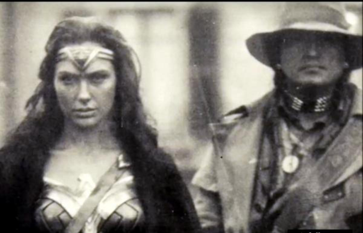 Wonder Woman and the Native American character 'Chief' played by Eugene Brave Rock.