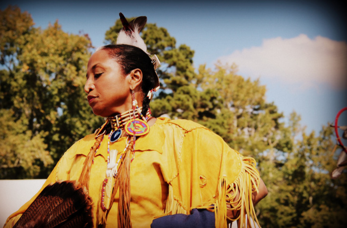 From the Nottoway pow wow. Photo Vincent Schilling International Women's Day.