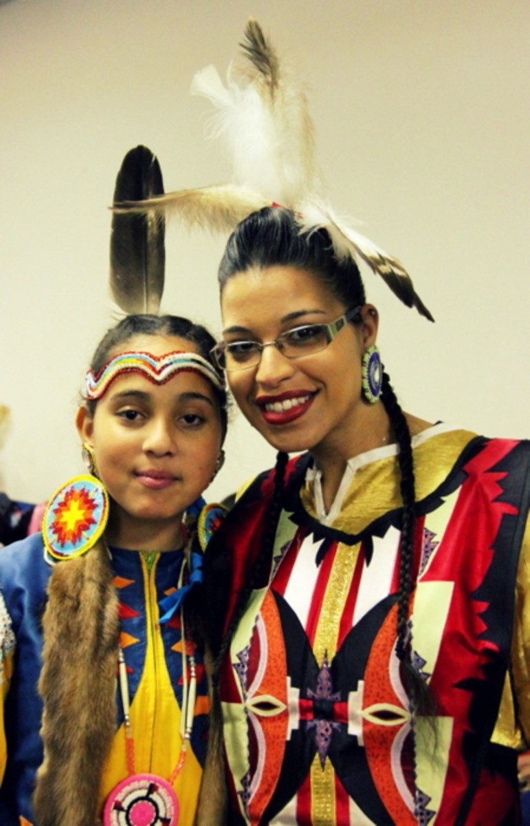 Great smiles at the Richmond Pow Wow. Photo Vincent Schilling International Women's Day.