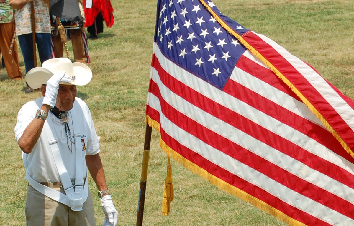 Proud Photo of a Native American Veteran by Vincent Schilling