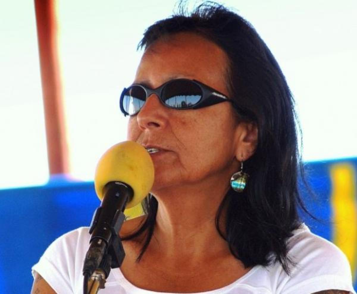 Indian Country Today file: Debra White Plume will be the keynote speaker at the water rights symposium Saturday.