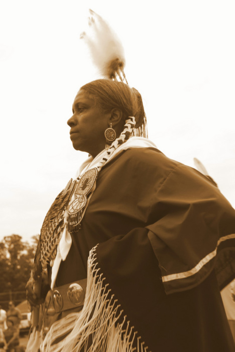 From the Nottoway 2013 pow wow. I put several images in black and white and this one was one of my absolute favorites. Photo Vincent Schilling International Women's Day.