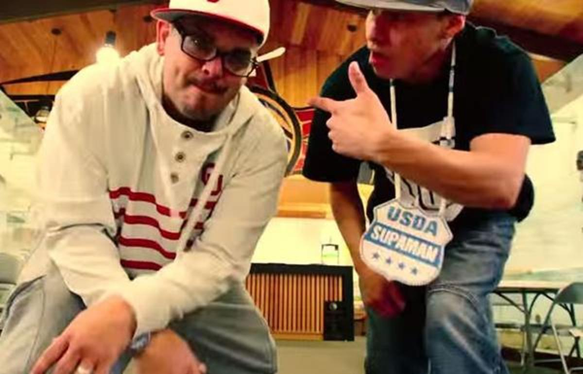 Emcee One and Supaman in the video for 'Too Far.'