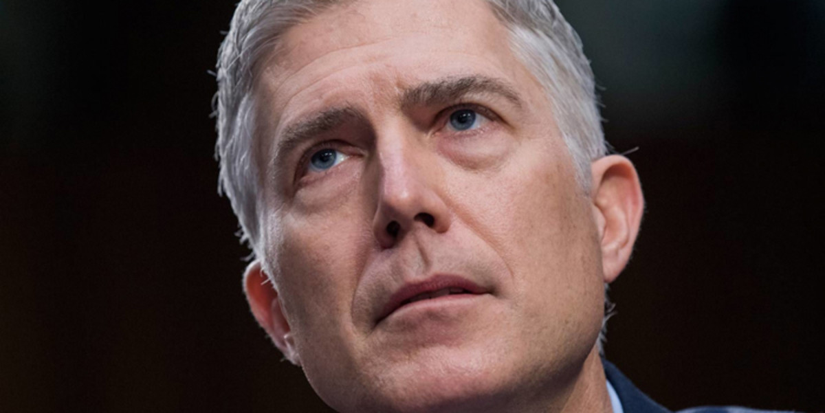 Supreme Court Justice nominee Neil Gorsuch testifies on the second day of his Senate Judiciary Committee confirmation on March 21, 2017.