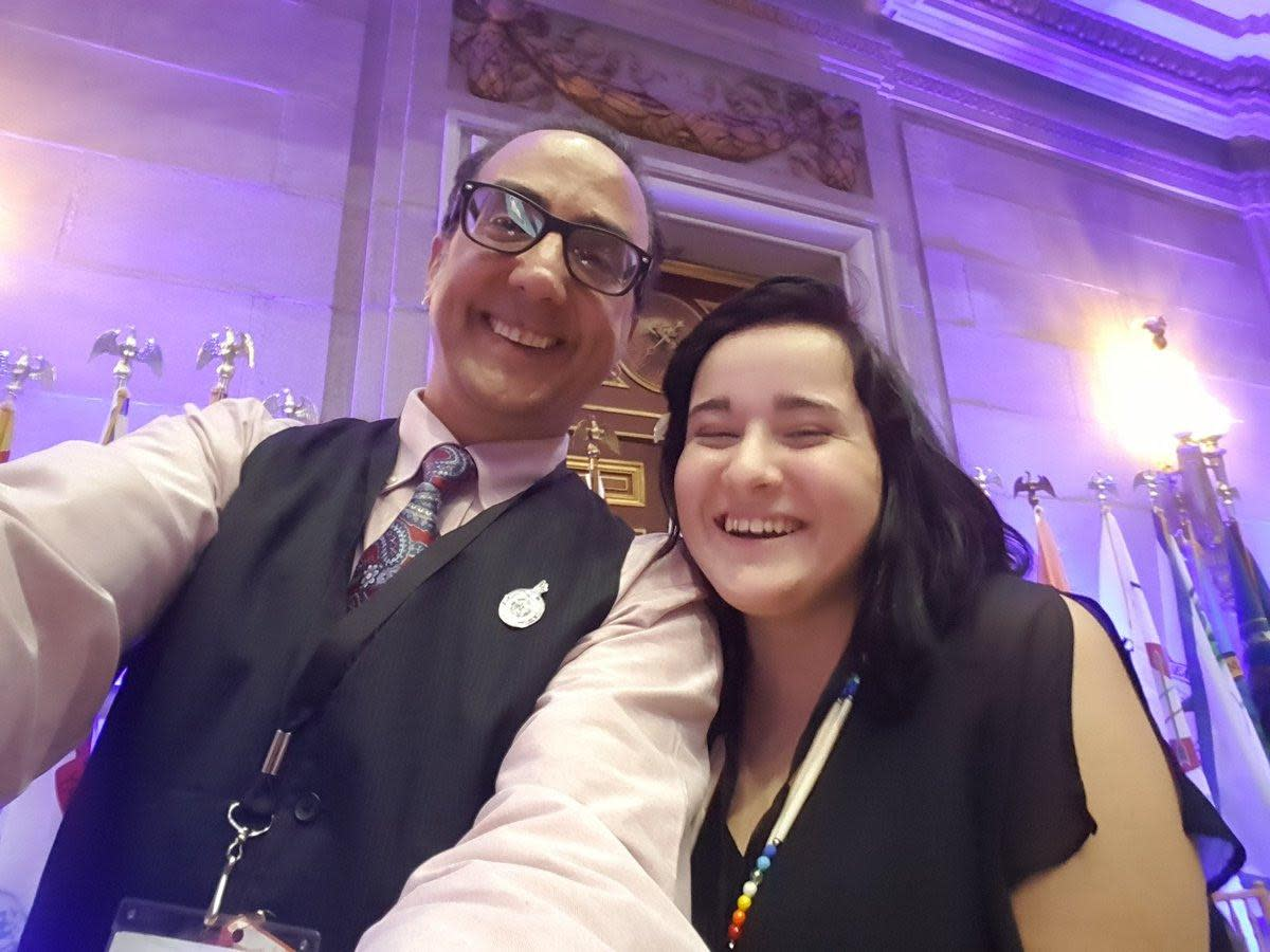 Selfie by Vincent Schilling, ICTMN Editor and Cierra Fields, Cherokee Nation