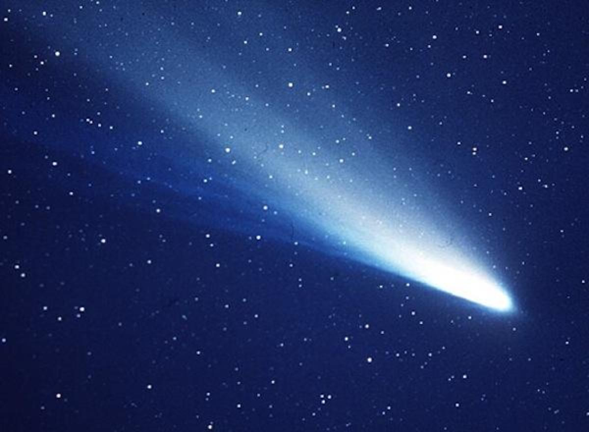 Halley's comet, parent of both the Orionid and Eta Aquarid meteor showers. The Orionids peak on October 20-21, 2013, this year.