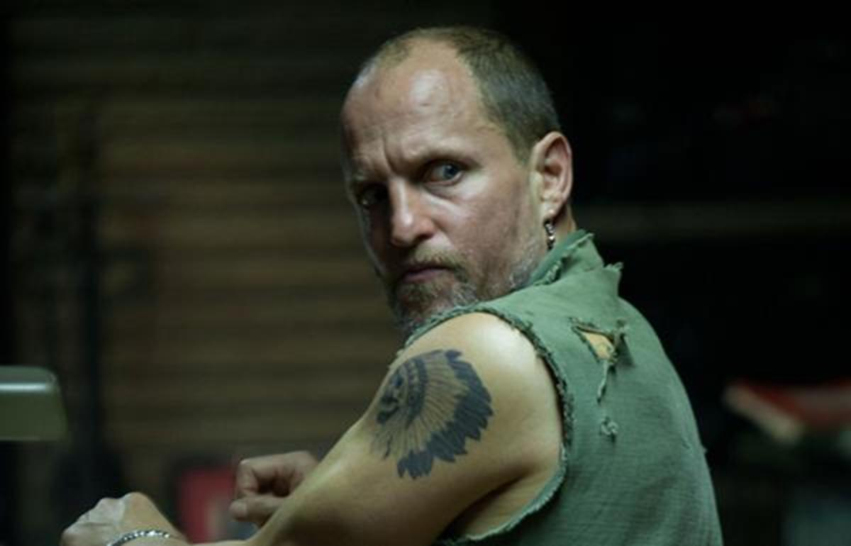 Woody Harrelson as the character Harlan de Groat in 'Out of the Furnace.' De Groat is a common last name among the Ramapough Lunaape.
